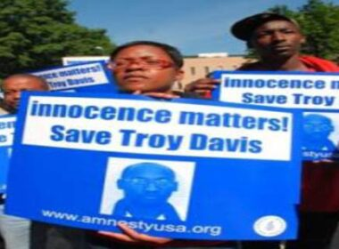 Protest march for Troy Davis