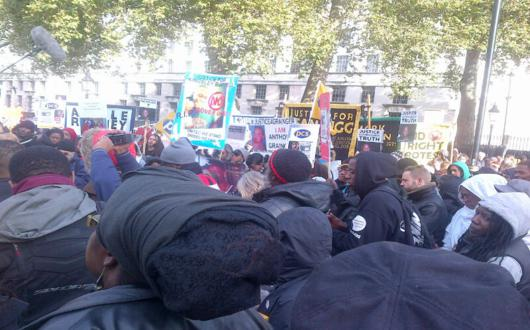 Crowds at UFFC demo echo demand for justice