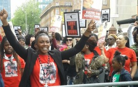 Kingsley Burrell death: Protest over charge 'delay'