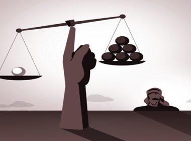 Justice scales cartoon