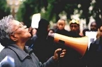 Black woman protests