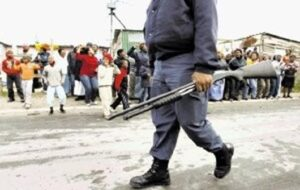 South African Armed Policeman
