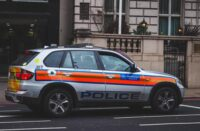 UK Police patrol car