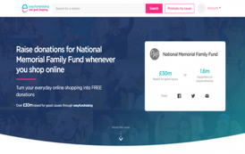 Just by shopping you can support the National Memorial Family Fund