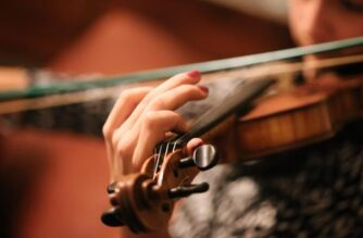Female playing a violin