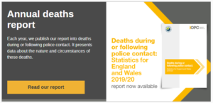 IOPC Annual deaths report banner