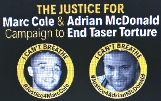 Justice For Marc Cole and Adrian McDonald flyer