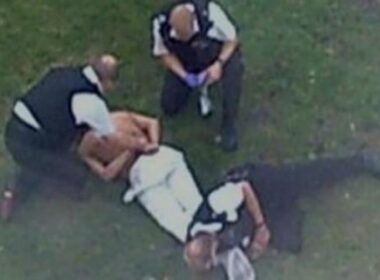 Sean Rigg restrained by police officers