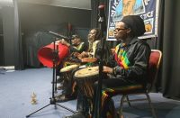 Negusa Drummers at Looking Back-Moving Forward event 2021